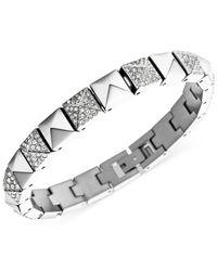 Michael Kors | Metallic Crystal Pavé Pyramid Tennis Bracelet | Lyst