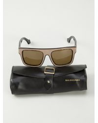Balenciaga Brown Textured Sunglasses