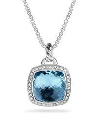 David Yurman - Albion Pendant With Blue Topaz And Diamonds - Lyst