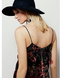 Free People | Black Only Hearts Womens Simply Burned Out Slip | Lyst
