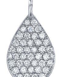 Irene Neuwirth Metallic Pear Drop Diamond Earrings