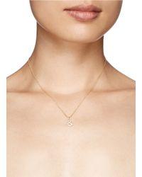 Khai Khai - Metallic 'and &' Diamond Pendant Necklace - Lyst
