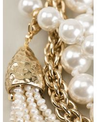 Rosantica - Metallic Chain And Pearl Necklace - Lyst