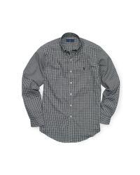 Polo Ralph Lauren - Black Plaid Cotton Oxford Shirt for Men - Lyst