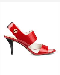 Michael Kors | Red Rochelle Open Toe Sandal | Lyst