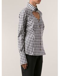 Vivienne Westwood Red Label White Checkered Shirt