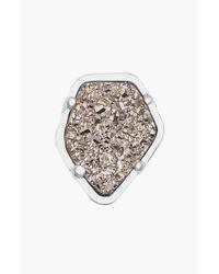 Kendra Scott | Metallic Stone Charm - Rhodium Platinum Drusy | Lyst