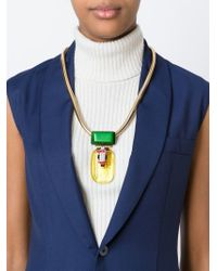 Marni - Yellow Embellished Necklace - Lyst