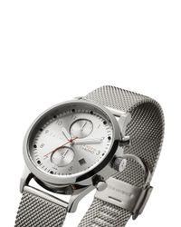 Triwa Metallic 'stirling Lansen Chrono' Steel Strap Watch
