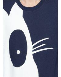 McQ Blue 'acid Bunny' Print Sweatshirt for men