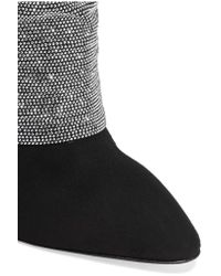 Giuseppe Zanotti Black Embellished Suede Over-the-knee Boots