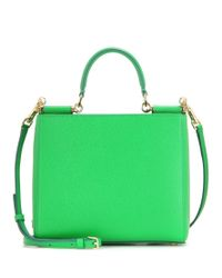 Dolce & Gabbana Green Small Sicily Leather Shoulder Bag