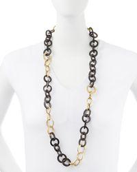 Ashley Pittman - Metallic Mawani Dark Horn & Bronze Necklace - Lyst