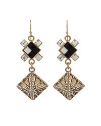 Lulu Frost | Metallic Terraced Geometric Drop Earrings | Lyst