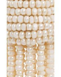 Oscar de la Renta - White Ivory Tassel Earrings - Lyst