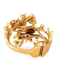 Oscar de la Renta | Gray Gold-plated Crystal Branch Bracelet | Lyst