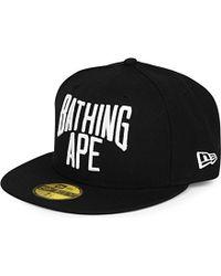 A Bathing Ape - Black New Era Logo Cap for Men - Lyst