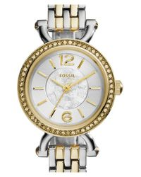 Fossil | Metallic 'georgia Reverse' Bracelet Watch | Lyst