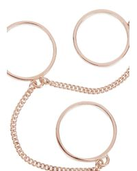 Eddie Borgo - Pink Rose Gold-plated Three Finger Ring - Lyst