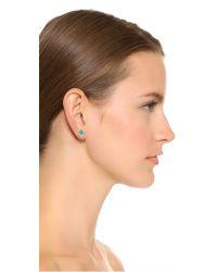 Monica Vinader - Green Baja Precious Stud Earrings - Lyst