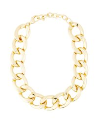 Kenneth Jay Lane - Metallic Oversize Curb Link Necklace - Lyst