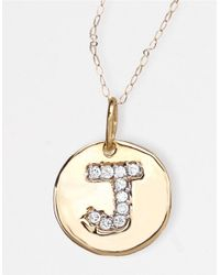 Lord & Taylor | Metallic 14 Kt. Gold Diamond Initial J Pendant Necklace | Lyst