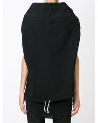 DRKSHDW by Rick Owens - Black Sleeveless Cowl Neck Sweatshirt - Lyst