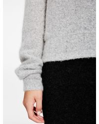 DKNY - Gray Pure Cashmere Pullover - Lyst