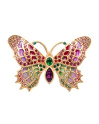 Jay Strongwater - Multicolor Irie Embellished Butterfly Pin - Lyst