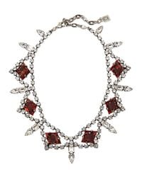 DANNIJO - Red Devi Crystal Statement Necklace - Lyst