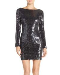 Dress the Population | Gray 'lola' Backless Sequin Minidress | Lyst