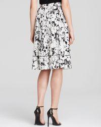 Elizabeth and James Black Midi Skirt - Avenue Silk