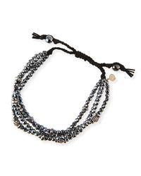 Tai | 4-Strand Black Spinel Beaded Bracelet | Lyst