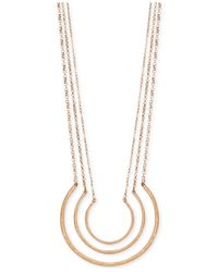 Lucky Brand | Metallic Triple Layer Necklace | Lyst