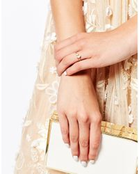 Stella & Bow - Metallic Curacao Adjustable Ring - Lyst