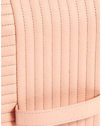 ASOS | Pink Clutch Bag with Radiator Quilting | Lyst