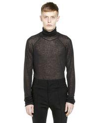 Haider Ackermann - Black Viscose & Wool Turtleneck Sweater - Lyst