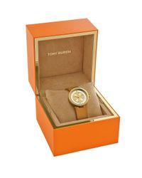 Tory Burch Metallic Reva Watch, Gold-tone/black, 28 Mm