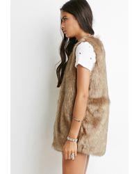 Forever 21 Brown Faux Fur Vest