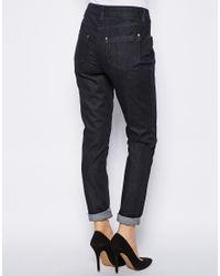 NW3 by Hobbs Blue Skinny Jeans in Dark Indigo
