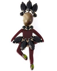 Marni - Black Lady-shaped Brooch - Lyst