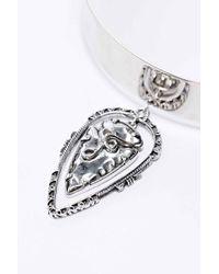 Vanessa Mooney - Metallic The Illuminations Pendant Choker Necklace in Silver - Lyst