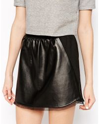 House of Harlow 1960 | Black Pearl Faux Leather Mini Skirt | Lyst