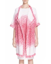 St. John | Pink 'papillons' Ombre Knit Topper | Lyst