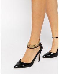 ASOS - Metallic Metal Tattoo Anklet - Lyst