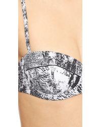 Proenza Schouler | Splash Print Underwire Demi Bikini - White | Lyst