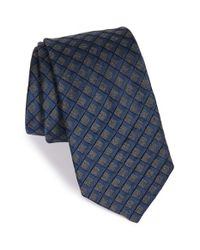 Michael Kors | Blue 'heather' Check Silk Blend Tie for Men | Lyst