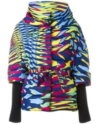 M Missoni - Multicolor Zigzag Pattern Belted Coat - Lyst