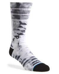 Stance - Black 'lorenza' Crew Socks for Men - Lyst