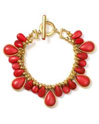 Lauren by Ralph Lauren - Orange Coral Bay Rondelle Bead Bracelet - Lyst